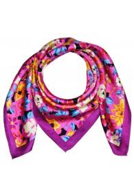 Silk scarf Pink Floral LORENZO CANA