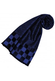 Blue silk scarf for woman LORENZO CANA