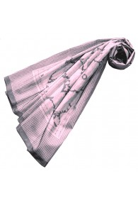 XXL scarf for women Pink cotton LORENZO CANA