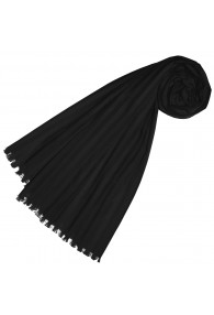 Scarf for women black cotton LORENZO CANA
