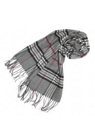 Schal für Damen Polyacryl grau schwarz weiß LORENZO CANA