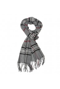 Scarf For Men Elegant Gray Black White LORENZO CANA
