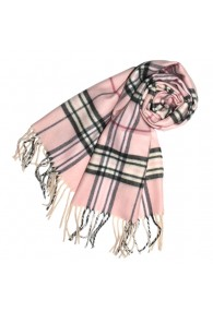 Scarf For Men Soft Pink Black White LORENZO CANA