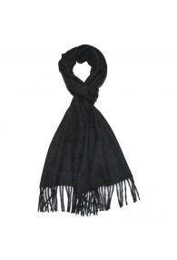 Men's Shawl Pure Cashmere Anthracite Black LORENZO CANA