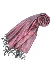 Scarf 100% Modal Taupe Black Floral LORENZO CANA