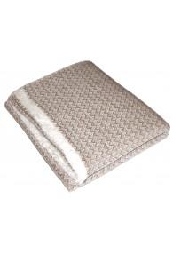Blanket 100% Cashmere Light Brown White LORENZO CANA