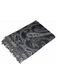 Blanket black grey white LORENZO CANA