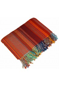 Blanket orange brown blue LORENZO CANA