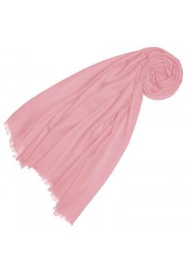 Cashmere scarf plain cream rosé LORENZO CANA