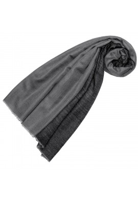 Cashmere scarf doubleface light and dark gray LORENZO CANA