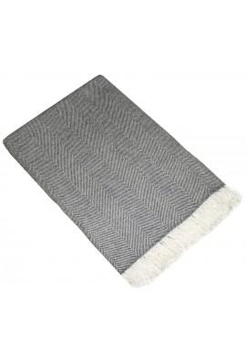 Grau Weiß Kaschmirdecke LORENZO CANA